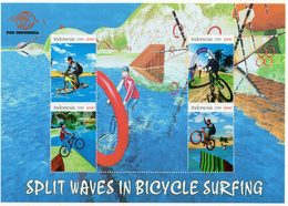 Indonesia 2020 Bicycle Surfing-MS - Official Personalized Stamp.MNH - Indonesien