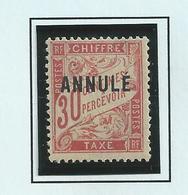 Timbre Taxe , Cours D'instruction 30c Rouge N°33 CI 1 Neuf * Surcharge Haute De 1923 - Lehrkurse