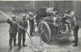 93 - POMPIERS - MANOEUVRE DE LA POMPE ELECTRIQUE - Sapeurs-Pompiers
