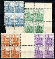 VE0438 GERMANIA 1946 Emissioni Sovietiche Per La Sassonia Occidentale, Fiera Di Lipsia, Serie Completa In Quartine, Otti - Zona Sovietica