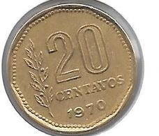 *argentina 20 Centavos 1970  Km 67 Unc - Argentine