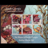 SOUTH GEORGIA 2011 - Scott# 426 Sheet-Marine Life MNH - South Georgia