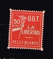 U.G.T. Velez-Blanco - Verschlussmarken Bürgerkrieg