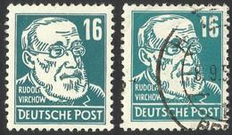 ERRORS--VARIETY--GERMANY / SOVIET ZONE --1948-- 2 DIFFERENT TYPES - Zone Soviétique