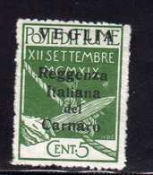 VEGLIA 1920 SOPRASTAMPA MODIFICATA CENT. 5c MNH - 8. WW I Occupation