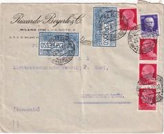 ITALIE 1929 LETTRE EXPRESS DE MILANO - Storia Postale
