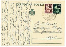 13/06/1946 PRIMO GIORNO REPUBBLICA SU CARTOLINA POSTALE - 1946-60: Marcophilie