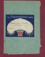 210120 - Grande Enveloppe Porte Timbre Illustrée AU PRINTEMPS Affranchie 10c Semeuse Rouge 1913 Cachet Périodique - Marcophilie (Lettres)