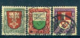 SUISSE : Y&T (o) N°173 à 175 (à 10% De La Cote) - Svizzera