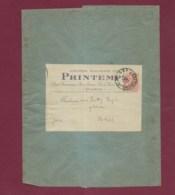 210120 - Grande Enveloppe Grand Magasin Du PRINTEMPS Affranchie Timbre 3c Mouchon Orange 1912 - Marcophilie (Lettres)