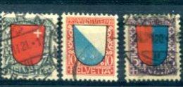 SUISSE : Y&T (o) N°176 à 178 (à 10% De La Cote) - Svizzera