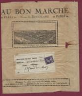 210120 - Grande Enveloppe Illustrée Grand Magasin AU BON MARCHE A BOUCICAUT Affranchie 35c Semeuse Pré Oblitéré - Marcophilie (Lettres)