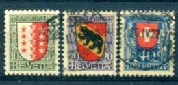 SUISSE : Y&T (o) N°185 à 187 (à 10% De La Cote) - Svizzera