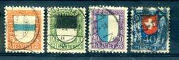 SUISSE : Y&T (o) N°188 à 191 (à 10% De La Cote) - Svizzera