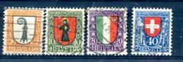 SUISSE : Y&T (o) N°192 à 195 (à 10% De La Cote) - Svizzera