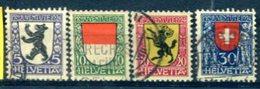 SUISSE : Y&T (o) N°214 à 217 (à 10% De La Cote) - Svizzera