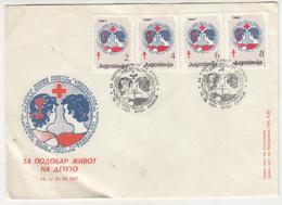 Yugoslavia Macedonia 1987 - Red Cross TBC FDCs B200115 - Macedonië