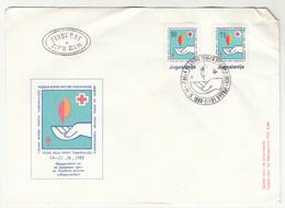 Yugoslavia Macedonia 1988 - Red Cross TBC FDC B200115 - Macedonië