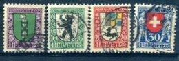 SUISSE : Y&T (o) N°218 à 221 (à 10% De La Cote) - Svizzera
