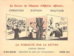 """CPA / CARTE DE VISITE FRANCE 75010 """"Paris, Rue Martel, Publicité Par La Lettre, Spécialiste De Vente Par Correspondance"""" - Arrondissement: 10"""