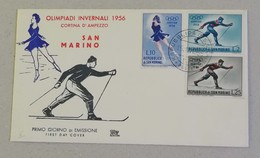 FDC Olimpiadi Invernali Cortina 1956 - FDC