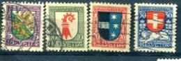 SUISSE : Y&T (o) N°222 à 225 (à 10% De La Cote) - Svizzera