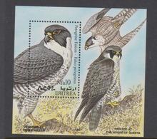 Eritrea Scott 306 1998 Birds Peregrin Falcon,souvenir Sheet,mint Never Hinged - Aigles & Rapaces Diurnes