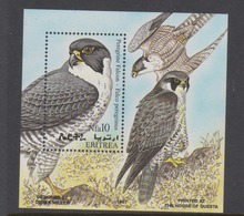 Eritrea Scott 306 1998 Birds Peregrin Falcon,souvenir Sheet,mint Never Hinged - Eagles & Birds Of Prey