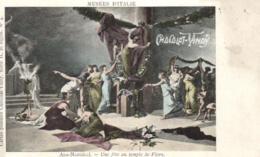 D 3355 - Musée D'Italie    Tableau  Ada - Mangilli   Une Fête Au Temple De Flore   Et Publicité  Chocolat - Vinay - Museen