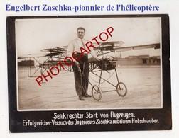 Engelbert ZASCHKA-Pionnier De L'HELICOPTERE-Aeronautique-Technique-Invention-Carton Allemand Epais De Presse- - Hélicoptères