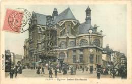75 - PARIS - EGLISE SAINT EUSTACHE -  ECHAFAUDAGE - France