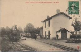 01 SAINT-TRIVIER-sur-MOIGNANS   La Gare - Gares - Avec Trains