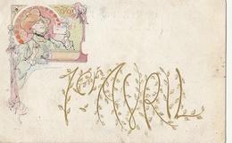 POISSON D'AVRIL - Art Nouveau - April Fool's Day