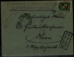 ISRAEL 1890 TURKISH PERIOD REGISTERED COVER SENT FROM SAFFED PALESTINA VF!! - Otros