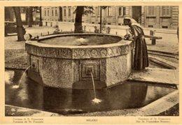 Milano - Fotografia Antica FONTANA DI SAN FRANCESCO, (con Testo In Varie Lingue) - OTTIMA N4 - Luoghi