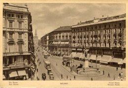 Milano - Fotografia Antica VIA DANTE, ANIMATA (con Testo In Varie Lingue) - OTTIMA N4 - Luoghi