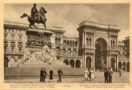 Milano - Fotografia Antica MONUMENTO A VITTORIO EMANUELE II, ANIMATA (con Testo In Varie Lingue) - OTTIMA N4 - Luoghi