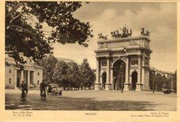 Milano - Fotografia Antica ARCO DELLA PACE, ANIMATA (con Testo In Varie Lingue) - OTTIMA N4 - Luoghi
