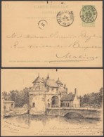 """Belgique - EP 5c Avec Repiquage Privé """"Porte De La Ville De Bruges"""" De Bruges 04/04/1902 Vers Malines (RD158)DC5671 - Stamped Stationery"""