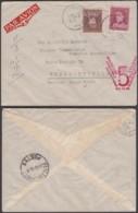 """Belgique-Lettre COB 321+324 """"Vol Spécial Bruxelles-Elisabetville"""" De Courtrai 16/x/1936 Vers Elisabetville (RD163)DC5676 - 1931-1934 Mütze (Képi)"""