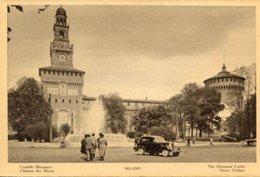Milano - Fotografia Antica CASTELLO SFORZESCO, ANIMATA (con Testo In Varie Lingue) - OTTIMA N4 - Luoghi