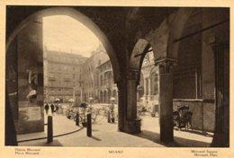 Milano - Fotografia Antica PIAZZA MERCANTI, (con Testo In Varie Lingue) - OTTIMA N4 - Luoghi