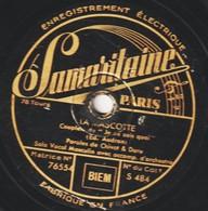 """Disque 78 Trs - état B - LA MASCOTTE  Duo Vocal """" L Es Envoyés Du Paradis"""" """"Je Ne Sais Quoi"""" - 78 T - Disques Pour Gramophone"""