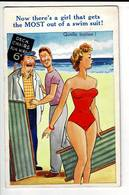 HUMO 448 - QUELLE BATISSE - NOW THERE S A GIRL THAT GETS THE MOST OUT OF A SWIM SUIT - Humour