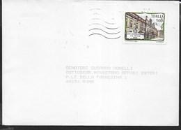STORIA POSTALE REPUBBLICA - 1988 - LICEO VISCONTI ROMA ISOLATO SU BUSTA INDIRIZZATA A SENATRICE - 6. 1946-.. Repubblica