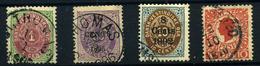 Dinamarca (Antillas) Nº 5, 15, 23, 28. Año 1873/905. - Danimarca (Antille)