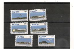 1988 AÉROPORT INTERNATIONAL DE FALEOLO N° Y/T : 649/654** - Samoa