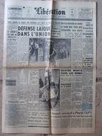 """Journal Libération (6 Juil 1959) Défense Laïque - Tour De France - Les """"Quat'z'Arts - La Sarre Rattachée - 1950 à Nos Jours"""