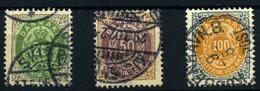 Dinamarca Nº 27/29. Año 1875/1903. - Usati