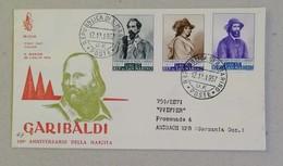 FDC 150° Anniversario Nascita Garibaldi, Per La Germania - 12/12/1957 - FDC